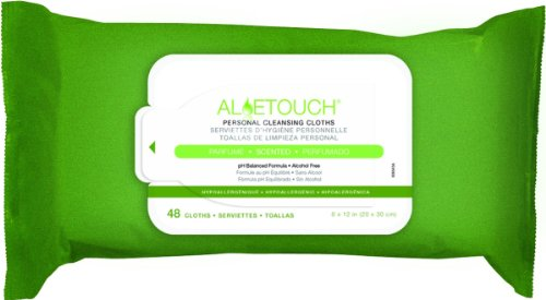 Personal Care Wipes (Medline MSC263654HH Aloetouch Personal Cleansing Wipes (48/Pack))