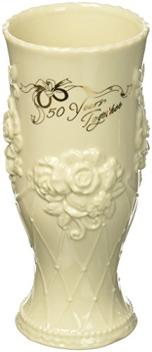 Cosmos 50th Anniversary Ceramic Vase, 7 Inches High, - Jar 50th Cookie Anniversary