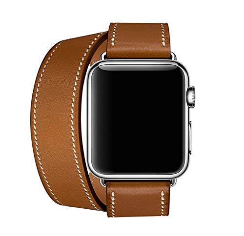 BETTER-NEE Compatible with i-Watch Band 42mm 44mm,Replacement Band Compatible with iWatch Series 4 (42mm) Series 3 Series 2 Series 1 (44mm) Sport and Edition, Brown