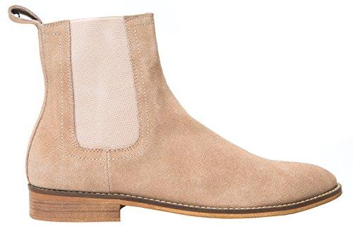 0c8f44cac ... SANTIMON Chelsea Boots Men Suede Casual Dress Boots Ankle Boots Formal  Shoes Brown 9.5 D( ...