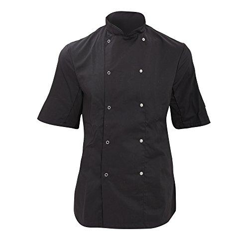 Dennys Womens/Ladies Economy Short Sleeve Chefs Jacket / Chefswear (M) (Black)