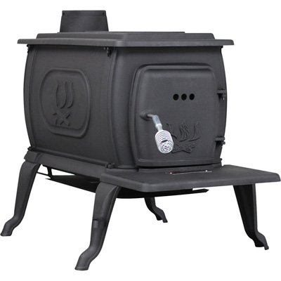 US Stove 2469E Epa Certified Cast Iron Logwood Stove, 94,000 Btus, Large by US Stove