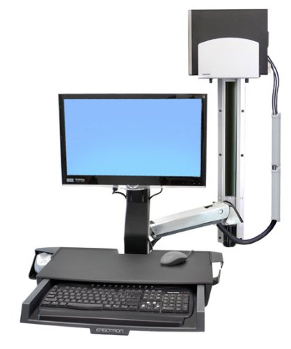 EN68351 ERGOTRON SV COMBO ARM WORKSURFACE PRE-CONFIGURATION MEDIUM CPU HOLDER POLISHED 24\  B0074ILT92