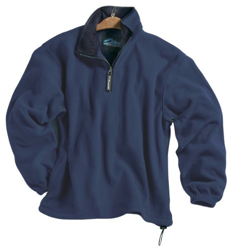 Tri-Mountain Escape Micro-Fleece Quarter-Zip Pullover, 4XL, Navy / Navy