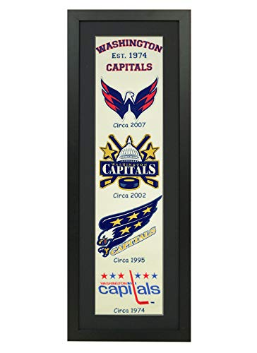 Winning Streak NHL Framed Heritage Banner 14x38 Inches (47029 - Washington Capitals)
