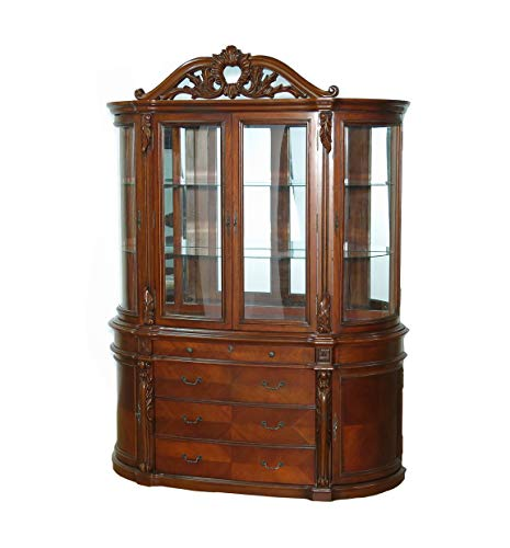 Cabinet China Curio Display (Vintage Cherry China Curio Display Cabinet)