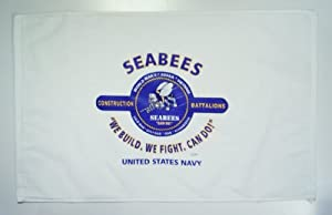 "Seabees (u.s. Navy) ""we Build-we Fight-can Do!"" Unit & Campaigns Rally Towel 16"" X 26"" Design On One Side by PORT AUTHORITY"