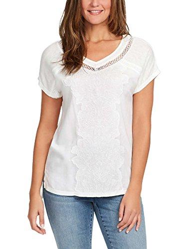 Gloria Vanderbilt Ladies' Embroidered Top (Crystal White, Small)