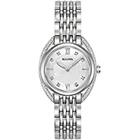 Bulova 96R212 Women's Stainless Diamonds Accent Bracelet Watch - Refurbished