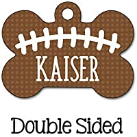 Football Dog Tag, Sport Pet Tag, Personalized Pet Tag, Custom Pet Tag, Dog ID Tag, Personalized Dog Tag, Double Sided Name Tag, Boy Dog Tag