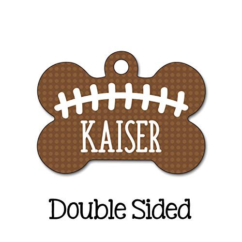 Football Dog Tag, Sport Pet Tag, Personalized Pet Tag, Custom Pet Tag, Dog ID Tag, Personalized Dog Tag, Double Sided Name Tag, Boy Dog Tag ()