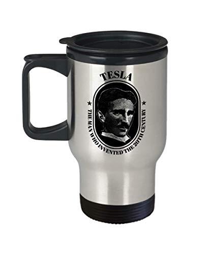 - Nikola Tesla Travel Mug Coil Inventor Novelty Coffee Cup Gift
