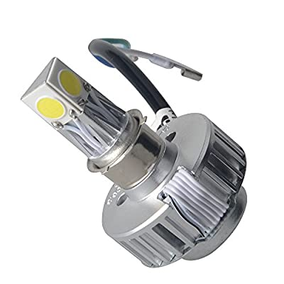 Racbox H4 High Low Beam Motorcycle Led Headlight Bulb White 6000K