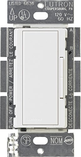 (Lutron MA-R-WH Maestro Companion 120V 8.3A Designer Digital Dimmer Switch, White)