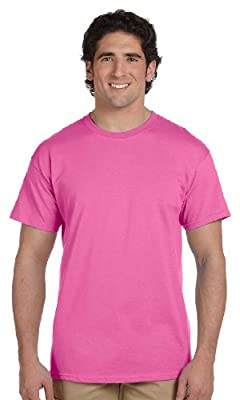 Gildan Men's Crewneck Short-Sleeve T-Shirt, AZALEA, XXX-Large. G200