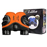Luwint 8X 21 Binoculars for Kids Bird Watching, Watching Wildlife or Scenery, Game, Safari, Fishing, Mini Compact and Image Stabilized (Orange)
