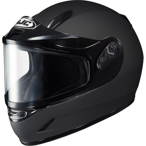 HJC Solid Youth Boys CL-Y Sport Racing Snowmobile Helmet - Matte Black/Medium (Youth Snowmobile Helmet)