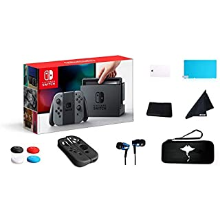 """Newest Switch with Gray Joy-Con - 6.2"""" Touchscreen LCD Display, Built-in Speakers, 802.11ac WiFi, Bluetooth- 69 Value 13-in-1 Supper Kit Case (Gray)"""