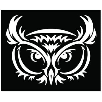 Amazoncom Owl Black White Tribal Vinyl Sticker Car Phone Helmet