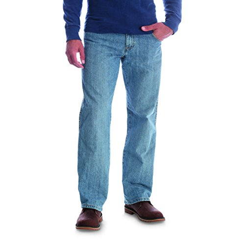 Wrangler Men's Rugged Wear Relaxed Straight Fit Jean,Blue,32x36 (Wear Mens Jeans)