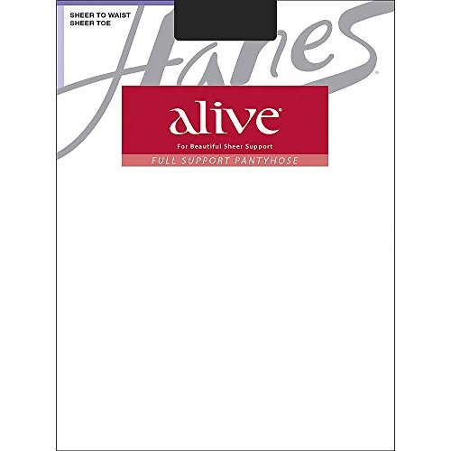 Hanes Alive Sheer to Waist Pantyhose, Jet, B