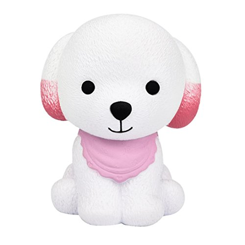 Livoty Jumbo Squishy Cute Puppy Scented Cream Slow Rising Squeeze Decompression Toys (Pink)
