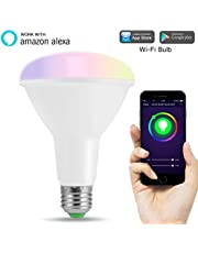 LOHAS Alexa Smart LED WiFi Bulb, R95 E27 Colour Changing Light Bulb, Works with Amazon Alexa, Google Home, 10W, Emit Tuneable White Lights, Remote Controlled by a Smartphone, 1 Pack