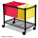 Functional and versatile! - SAFCO PRODUCTS Wire Mobile File, 1 Shelf, 14w x 24d x 20-1/2h, Black