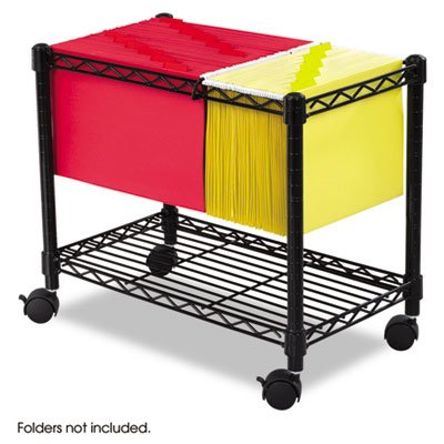 Functional and versatile! - SAFCO PRODUCTS Wire Mobile File, 1 Shelf, 14w x 24d x 20-1/2h, Black by Safco Products