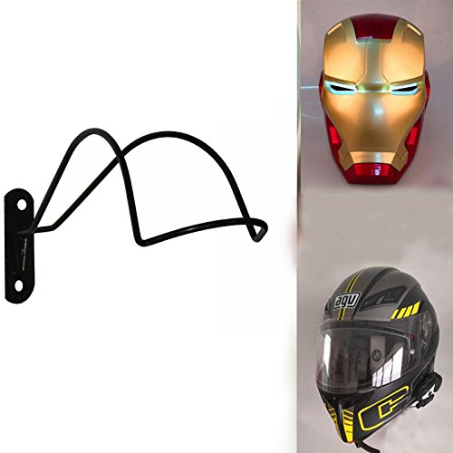 Diseño Profesional - Soporte de Pared para Casco de Motocicleta/Hockey/Ecuestre/Béisbol/Bate/Hierro Hombre Casco/Scout...