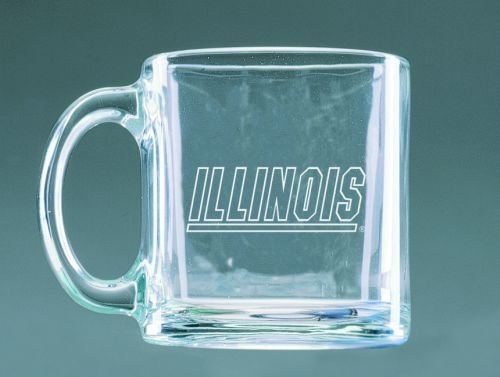 - Illinois Fighting Illini Deep Etched Clear Glass Mug