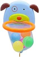 Ideapark Mini Baloncesto Juguetes Baño Bañera Divertidos Juegos de Agua Cesta con Forma de Perrito, 5 Pelotas para Bebes Niños Niñas Pequeños