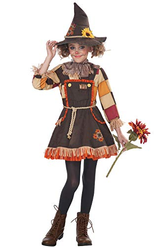 Big Girls' Patchwork Scarecrow Costume, Medium