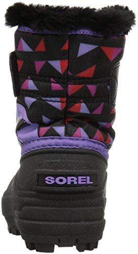 Sorel Jugend Unisex Kleinkind Schnee Commander Print Shell Boot Black/Paisley Purple