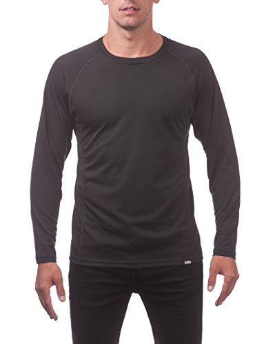 - Pro Club Men's Performance DryPro Long Sleeve T-Shirt, 3X-Large, Black