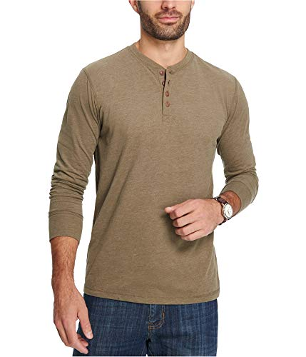 Weatherproof Vintage Men's Heathered Long Sleeve Henley Top (Sea Turtle Heather, XX-Large)