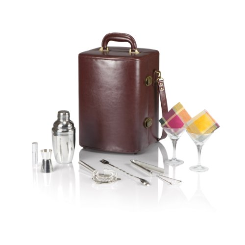 Amazon.com: Picnic Time Manhattan Insulated Two Bottle Cocktail Set,  Mahogany: Garden U0026 Outdoor