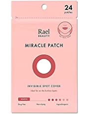 Rael Acne Pimple Healing Patch - Absorbing Cover, Invisible, Blemish Spot, Hydrocolloid, Skin Treatment, Facial Stickers, Two Sizes, Blends in with skin (24 Patches)