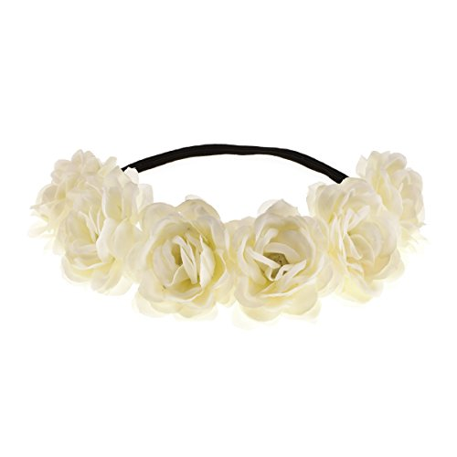 June Bloomy Camellia Flower Crown Wreath Halo Floral Garland Headpiece Photo Props -