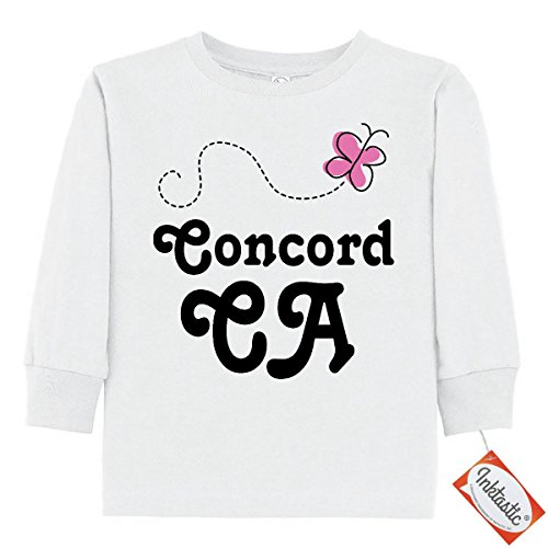 Inktastic Little Boys' Concord California Toddler Long Sleeve T-Shirts 2T White (City Of Concord California)