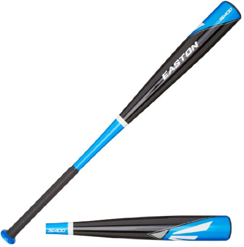 Easton Typhoon Baseball Bat (Easton BB14S400 S400-3 BBCOR Baseball Bat, Black/Blue, 33-Inch/30-Ounce)