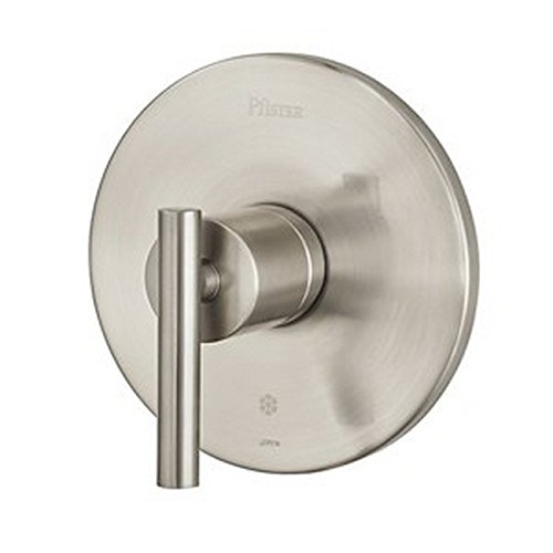 Faucet One Handle Valves - Pfister R89-1NK0 Contempra 1-Handle Tub and Shower Valve Trim, Brushed Nickel
