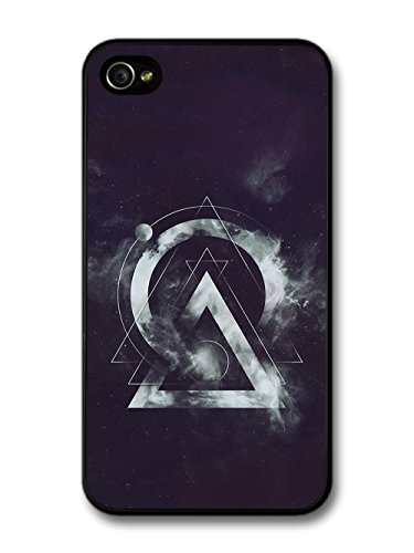 Cool Hipster Shapes in Space with Geometric Lines and Clouds case for iPhone 4 4S