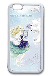 Anime Girl With Polar Bear Cute Hard Cover For iPhone 6 Plus Case ( 5.5 inch ) TPU White Cases
