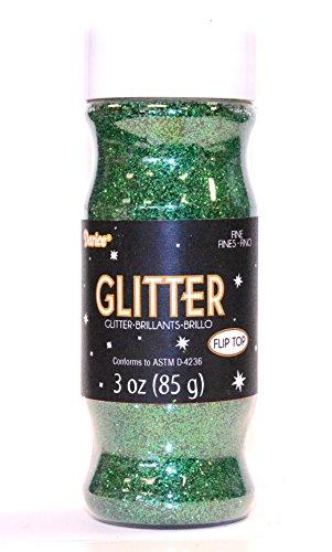 - Darice 3 oz Fine Glitter in a Jar, Green