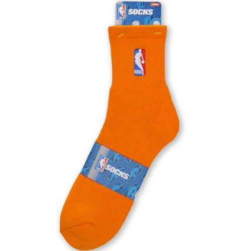 Feet For Quarter Nba Socks Bare - NBA Logoman Quarter Length Sock - Orange - Orange Medium