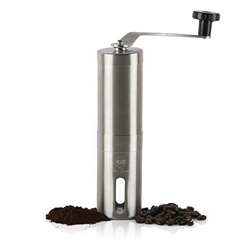 JavaGourmet JG-1-Y JavaGourmet01 Manual Coffee Grinder, Large, Silver
