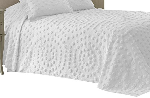 Nostalgia Home 028828374400 Bedspread, King, White