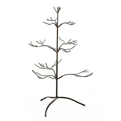 Metal Ornament Display Tree 25 Inches Tall ~ Mahogany Finish