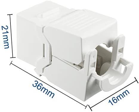 RJ 45 Keystone Jack Module Cat 5E FTP 500Mhz 10GB No Tools Needed Pack of 8 White
